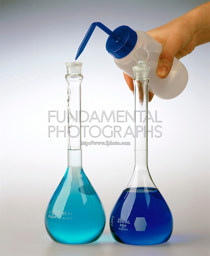 PREPARING SOLUTION BY DILUTION: CUPRIC SULFATE (3 of 4)<br />