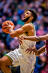 8 December 2018: University of Vermont Forward Anthony Lamb, a Junior from Toronto, Ontario, in first half action against the Harvard University Crimson at Patrick Gymnasium in Burlington, Vermont. Lamb scored a career-high 37 points, overcoming a 10-point 2nd half team deficit, leading the America East Catamounts over the Ivy League Crimson 71-65 in NCAA Division I inter-league play. Mandatory Credit: Ed Wolfstein Photo *** RAW (NEF) Image File Available ***