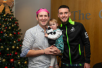 Pictured: Matt Grimes of Swansea City during the Swansea City Christmas part at the Liberty Stadium in Swansea, Wales, UK. Thursday 05 December 2019