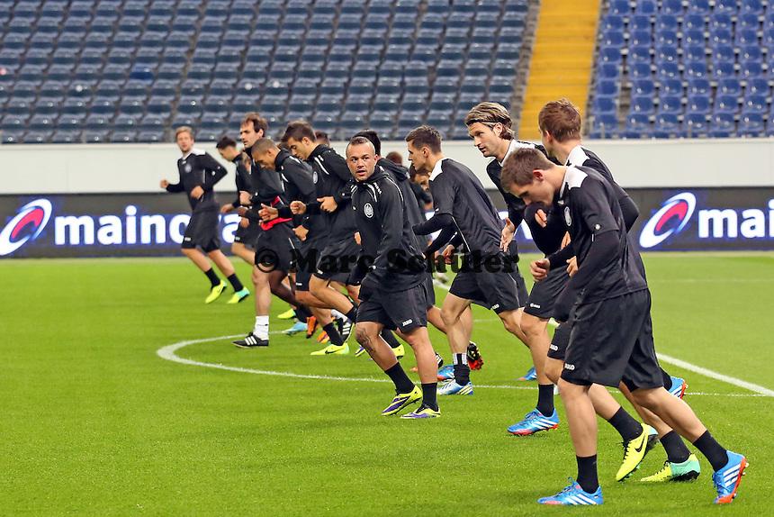 Abschlusstraining Eintracht Frankfurt- Eintracht Europa League PK