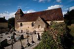 L'église du Fougy à Bourg Saint Léonard dans l'Orne. Françoise Lecaplain est la gagnante du concours du patrimoine organisé par le pelerin, pour la restauration du décors sur bois peint de la voute.