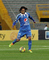 BOGOTA- COLOMBIA -02 -02-2014: Rafael Robayo, jugador de Millonarios durante partido de la segunda fecha de la Liga Postobon I 2014, jugado en el Nemesio Camacho El Campin de la ciudad de Bogota. / Rafael Robayo, player of Millonarios during a match for the second date of the Liga Postobon I 2014 at the Nemesio Camacho El Campin Stadium in Bogoto city. Photo: VizzorImage  / Luis Ramirez / Staff