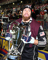 Matt Pickens#18 The Colorado Rapids celebrates 2-1 victory over FC Dallas in the MLS Cup 2010 at BMO Stadium in Toronto, Ontario on November 21 2010.