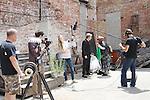 Chris J. Handley & Ellen Dolan - Empire The Series films on set June 3, 2012  in Brooklyn, New York. (Photo by Sue Coflin/Max Photos)