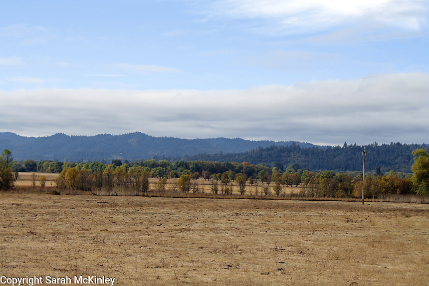 A vista of Little Lake Valley taken in October from Reynold's Highway outside of Willits in Mendocino County in Northern California