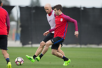 San Jose, CA - March 20, 2017: The USMNT train in preparation for their 2018 FIFA World Cup Qualifying Hexagonal match against Honduras at Avaya Stadium.