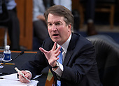 Judge Brett Kavanaugh testifies before the United States Senate Judiciary Committee on his nomination as Associate Justice of the US Supreme Court to replace the retiring Justice Anthony Kennedy on Capitol Hill in Washington, DC on Thursday, September 6, 2018.<br /> Credit: Ron Sachs / CNP<br /> (RESTRICTION: NO New York or New Jersey Newspapers or newspapers within a 75 mile radius of New York City)
