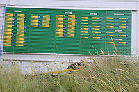 Final scores on display after the final of the  North of Ireland Amateur Championship, Portstewart Golf Club, Portstewart, Antrim,  Ireland. 12/07/2019<br /> Picture: Golffile | Fran Caffrey<br /> <br /> <br /> All photo usage must carry mandatory copyright credit (© Golffile | Fran Caffrey)