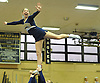 The Bethpage varsity cheerleading squad performs during an eight-team competition held at Bethpage High School on Sunday, Jan. 22, 2017.