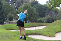 Jesica Korda (USA) plays her 2nd shot on the 7th hole during Thursday's Round 1 of The Evian Championship 2018, held at the Evian Resort Golf Club, Evian-les-Bains, France. 13th September 2018.<br /> Picture: Eoin Clarke | Golffile<br /> <br /> <br /> All photos usage must carry mandatory copyright credit (&copy; Golffile | Eoin Clarke)