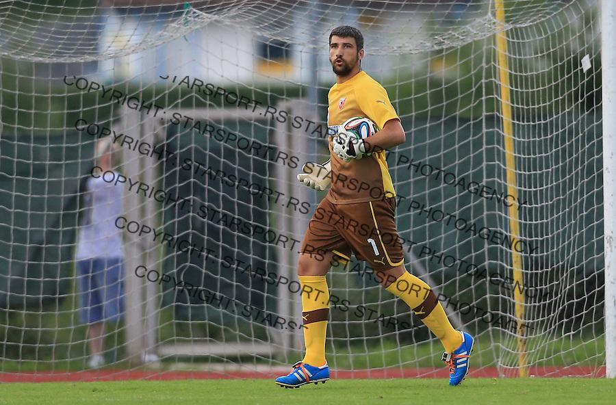Fudbal season 2013-2014<br /> FK Crvena Zvezda pripreme<br /> Crvena Zvezda v Krka<br /> Goalkeeper Damir Kahriman<br /> Novo Mesto, 07.12.2014.<br /> foto: Srdjan Stevanovic/Starsportphoto &copy;