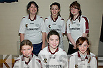 Causweay U/13 Indoor Soccer: Taking part in the Community Games Indoor Soccer Finals at St. Senans Sports Hall, Mountcoal, Listiowel, on Saturday last were the Causway Team: Front ; Sinead Leen, Andrea Hanly & Claire Murphy. Back: Sinead Fealy, Niamh Leen & Norann Gilbert.