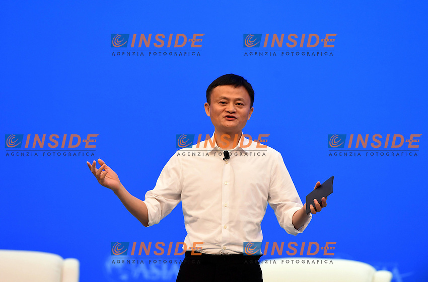 BOAO, March 23, 2016 -- Jack Ma, chairman of Alibaba Group, speaks at the session e-WTP: Setting Rules for Global e-Commerce during the Boao Forum for Asia (BFA) Annual Conference 2016 in Boao, south China s Hainan Province, March 23, 2016. <br /> Foto imago/Xinhua/Insidefoto