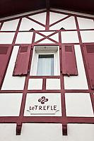 Europe/France/Aquitaine/64/Pyrénées-Atlantiques/Pays-Basque/Biarritz: Quartier Bibi Beaurivage - Façade maison [Non destiné à un usage publicitaire - Not intended for an advertising use]