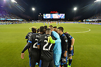 San Jose, CA - Friday April 14, 2017: San Jose Earthquakes huddle  prior to a Major League Soccer (MLS) match between the San Jose Earthquakes and FC Dallas at Avaya Stadium.