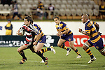 Ben Meyer makes a break upfield during the Air NZ Cup rugby game between Bay of Plenty & Counties Manukau played at Blue Chip Stadium, Mt Maunganui on 16th of September, 2006. Bay of Plenty won 38 - 11.