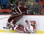 Thomas Larkin (Colgate - 27), Alex Fallstrom (Harvard - 16) - The Harvard University Crimson defeated the visiting Colgate University Raiders 6-2 (2 EN) on Friday, January 28, 2011, at Bright Hockey Center in Cambridge, Massachusetts.