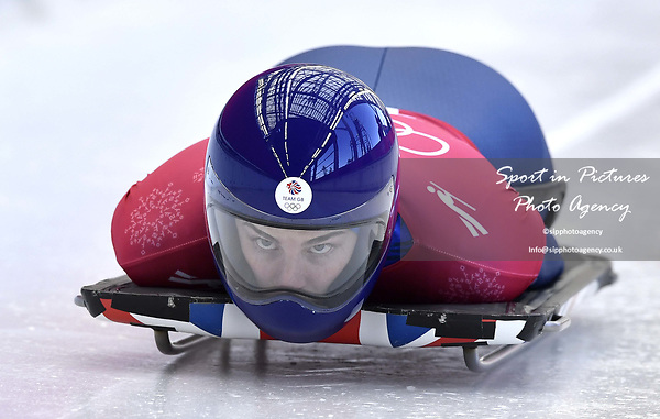 Laura Deas (GBR). Skeleton training. Alpensia sliding centrePyeongchang2018 winter Olympics. Alpensia. Republic of Korea. 13/02/2018. ~ MANDATORY CREDIT Garry Bowden/SIPPA - NO UNAUTHORISED USE - +44 7837 394578