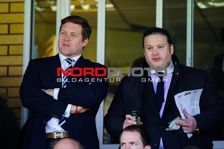 Managing Director of Leeds United FC, Davig Haigh (left) , looks on from the stands -  - 08/02/2014 - SPORT - FOOTBALL - Huish Park, Yeovil - Yeovil Town v Leeds United - Sky Bet Championship.<br /> Foto nph / Meredith<br /> <br /> ***** OUT OF UK *****