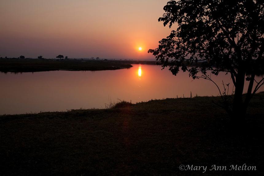 Sunrise at Chobe Savannah Lodge, Namibia