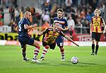 2018-08-27 / Voetbal / Seizoen 2018-2019 / KV Mechelen - Albert Quevy Mons / Rob Schoolfs (KV Mechelen) wordt foutief afgestopt door Simon Wantiez <br /> <br /> ,Foto: Mpics