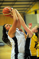 Action from the SAS Secondary Schools National Basketball Championships A girls pool match between Hastings Girls' High School and Waimea College at Arena Manawatu in Palmerston North, New Zealand on Wednesday, 28 September 2016. Photo: Dave Lintott / lintottphoto.co.nz