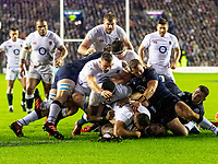 8th February 2020; Murrayfield Sadium, Edinburgh, Scotland; International Six Nations Rugby, Scotland versus England; Ellis Genge of England drives over to score the only try of the match as England run out 13-6 winners.