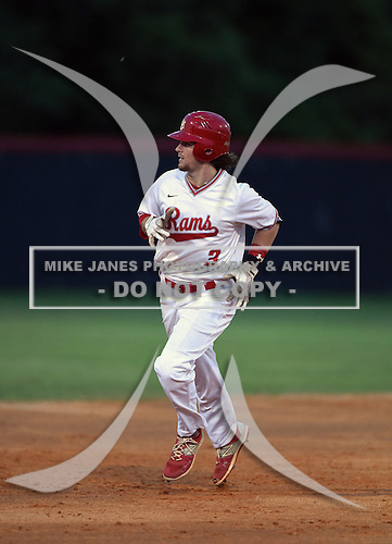 Lake Mary Rams shortstop Brendan Rodgers (3) runs the bases after hitting a home run during a game against the Lake Brantley Patriots on April 2, 2015 at Allen Tuttle Field in Lake Mary, Florida.  Lake Brantley defeated Lake Mary 10-5.  (Mike Janes Photography)