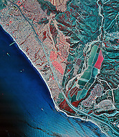 historical infrared aerial photograph of San Clemente, California, 1997