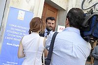 Roma, 3 Luglio 2014<br /> Convegno e assemblea dell'Anci<br /> L'associazione dei Comuni italiani per l'innovazione.<br /> Nella foto Antonio Decaro sindaco di Bari durante una intervista.