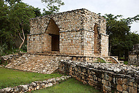 Entrance gateway to ceremonial centre with 4 arches, One of the three walls protecting the city, Puuc Architecture, Ek Balam (?Black Jaguar? in Maya), flourished during the Late Classic period between 700 and 1200 AD, Yucatan, Mexico. Picture by Manuel Cohen