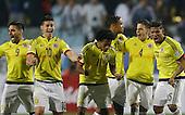 Jugadores de la Seleccion Colombia celebran un gol en la definici&oacute;n por penales en el partido por la Copa America ante Argentina  en Vi&ntilde;a del Mar, Chile, el 26 de junio 2015.<br /> <br /> Foto: Archivolatino<br /> <br /> COPYRIGHT: Archivolatino<br /> No esta permitido su uso sin autorizaci&oacute;n.