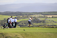 Eoghan O'Donnell (Tralee) on the 7th tee during the Munster Final of the AIG Barton Shield at Tralee Golf Club, Tralee, Co Kerry. 12/08/2017<br /> Picture: Golffile | Thos Caffrey<br /> <br /> <br /> All photo usage must carry mandatory copyright credit     (&copy; Golffile | Thos Caffrey)