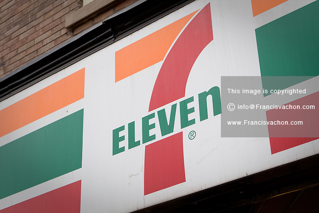 7-Eleven convenience store is pictured in Toronto April 24, 2010. The brand name 7-Eleven is part of an international chain of convenience stores, operating under Seven-Eleven Japan Co., Ltd., primarily operating as a franchise.