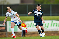 Sky Blue FC forward Lisa De Vanna (11). Sky Blue FC and the Chicago Red Stars played to a 1-1 tie during a National Women's Soccer League (NWSL) match at Yurcak Field in Piscataway, NJ, on May 8, 2013.