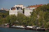 Europe/France/Rhône-Alpes/69/Rhône/Lyon:les quais sur le Rhone