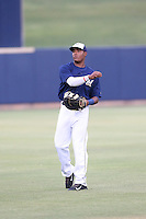 Juan Ortiz (34) of the AZL Brewers warms up before a game against the AZL Athletics at Maryvale Baseball Park on June 30, 2015 in Phoenix, Arizona. Brewers defeated Athletics, 4-2. (Larry Goren/Four Seam Images)