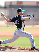 Garrett Olsen, Seattle Mariners 2010 minor league spring training..Photo by:  Bill Mitchell/Four Seam Images.