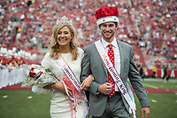 NWA Democrat-Gazette/CHARLIE KAIJO Arkansas Razorbacks homecoming king and queen are crowned during a football game on Saturday, November 4, 2017 at Razorback Stadium in Fayetteville