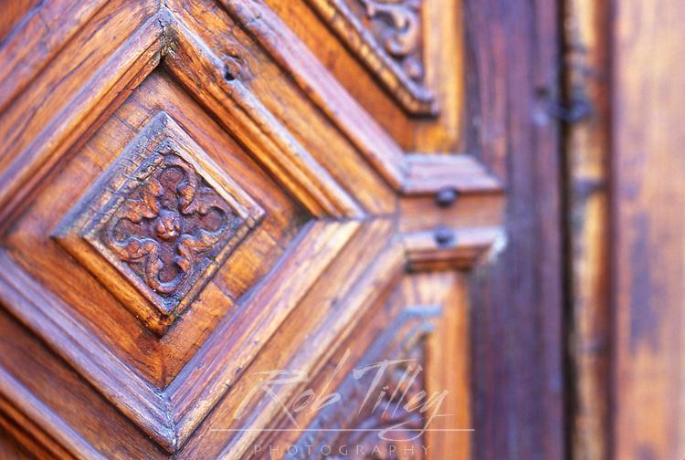 Mexico, Baja California Sur, San Ignacio, Mission San Ignacio Kadakaanman, Mission Door (Selective Focus)