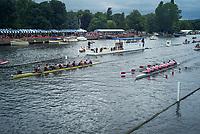 Henley Royal Regatta, Henley on Thames, Oxfordshire, 28 June - 2 July 2017.  Thursday  15:47:30   29/06/2017  [Mandatory Credit/Intersport Images]<br /> <br /> Rowing, Henley Reach, Henley Royal Regatta.<br /> <br /> The Thames Challenge Cup<br />  Thames Rowing Club 'B' v  Kingston Rowing Club