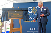 02 July 2019 - Wales, UK - Prince Charles Prince of Wales with Matt Jukes Chief Constable of South Wales Police during a visit to the South Wales Police Headquarters. Photo credit: ALPR/AdMedia