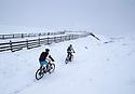 22/01/19<br /> <br /> Snowfall at Mam Tor near Castleton in the Derbyshire Peak District.<br /> <br /> All Rights Reserved, F Stop Press Ltd +44 (0)7765 242650  www.fstoppress.com rod@fstoppress.com