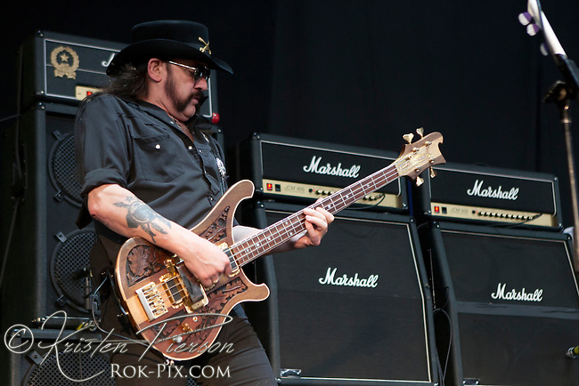 Motorhead perform at the Rockstar Mayhem Festival in Mansfield, Massachusetts, August 3, 2012