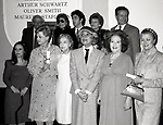 Adolph Green, Betty Comden, Al Pacino, Jerry Herman,Burgess Meredith, Susan Strassberg, Angela lansbury, Lillian Gish, Carol Channing, Ethel Merman and Princess Grace Kelly attend the Theatre Hall Of Fame Awards held on March 28, 1982 at the Uris Theater, now called the Gershwin Theater, New York City.