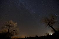 Star-studded sky, Chinle, Arizona, near Canyone de Chelly, Sunday, November 19, 2017.