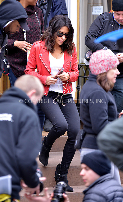 WWW.ACEPIXS.COM<br /> <br /> March 15 2016, New York City<br /> <br /> Actress Sarah Shahi was on the set of the Pilot of the TV show 'Drew' on March 15 2016 in New York City<br /> <br /> By Line: Curtis Means/ACE Pictures<br /> <br /> <br /> ACE Pictures, Inc.<br /> tel: 646 769 0430<br /> Email: info@acepixs.com<br /> www.acepixs.com