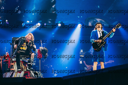 AC/DC - Angus Young and AXLROSE - performing live at the Stade Velodrome in Marseilles France - 13 May 2016.  Photo credit: Hennequin/Dalle/IconicPix ** UK ONLY **