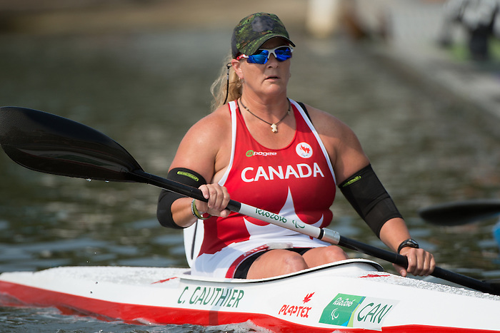 RIO DE JANEIRO - 15/9/2016: Christine Gauthier competes in the Women's KL2 Final Canoe Sprint at the Lagoa Stadium during the Rio 2016 Paralympic Games in Rio de Janeiro, Brazil. (Photo by Matthew Murnaghan/Canadian Paralympic Committee)