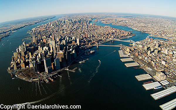 aerial photograph Manhattan island, New York City